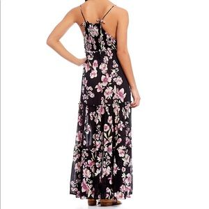 Free People Garden Party Smocked  SZ L Maxi